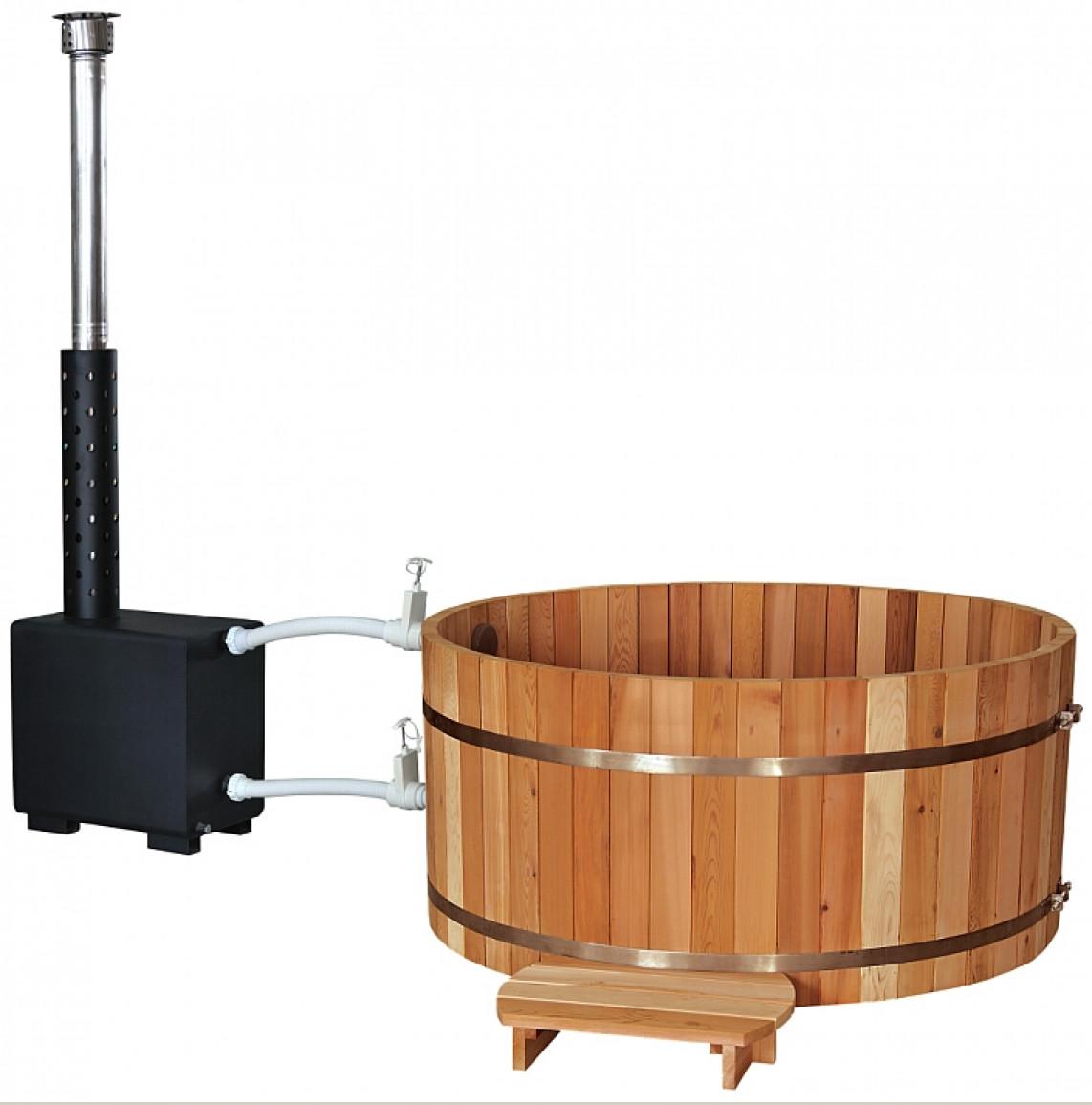Купель PREMIO, с подогревом (выносная печь), выс. 1,0 м, канадский кедр