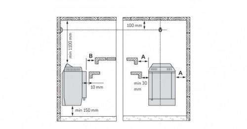 Электрическая печь Harvia Topclass Combi KV60SE 6 кВт (без пульта)