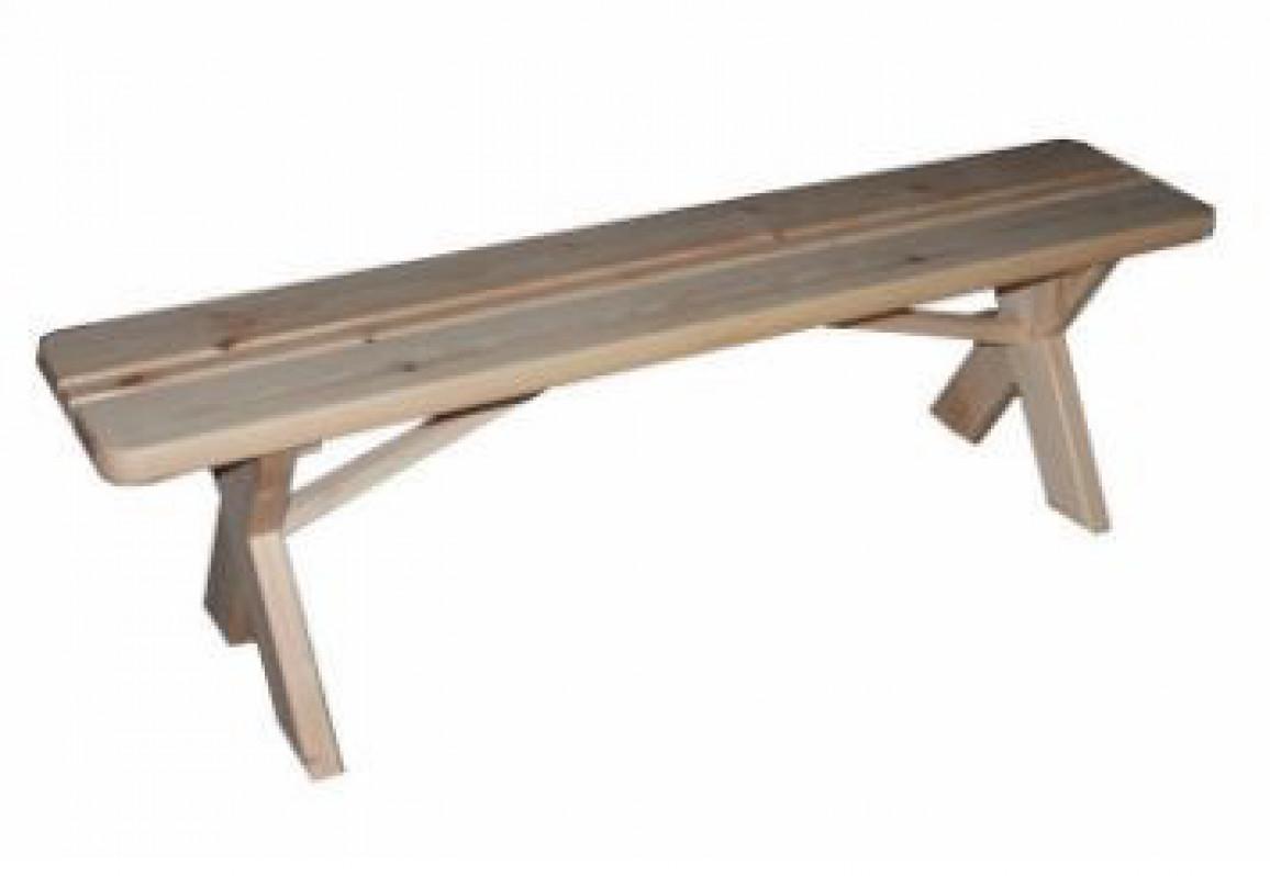 Скамейка без спинки   1,2м.