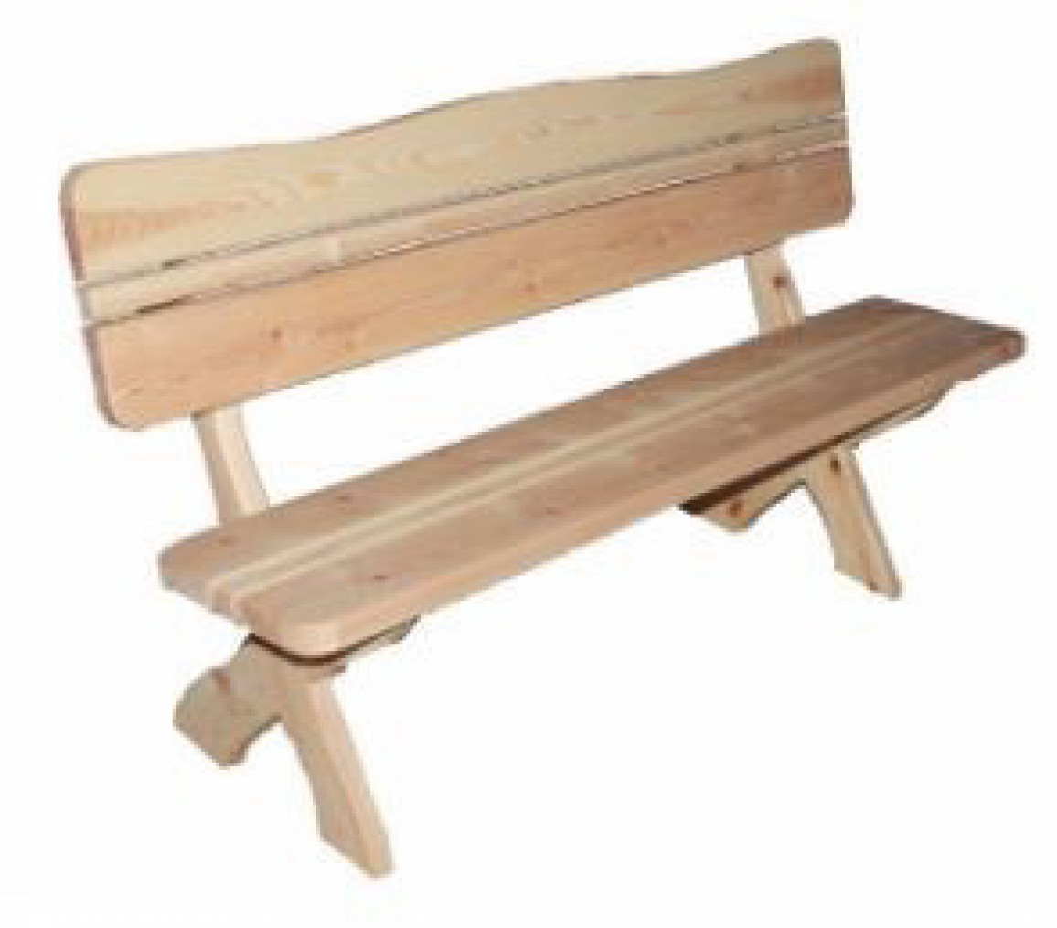 Скамейка со спинкой 1,0 м