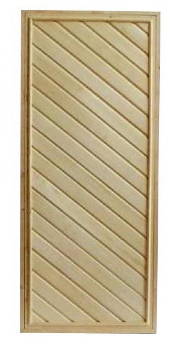 Дверь глухая с утеплителем (коробка хвоя) 176х72
