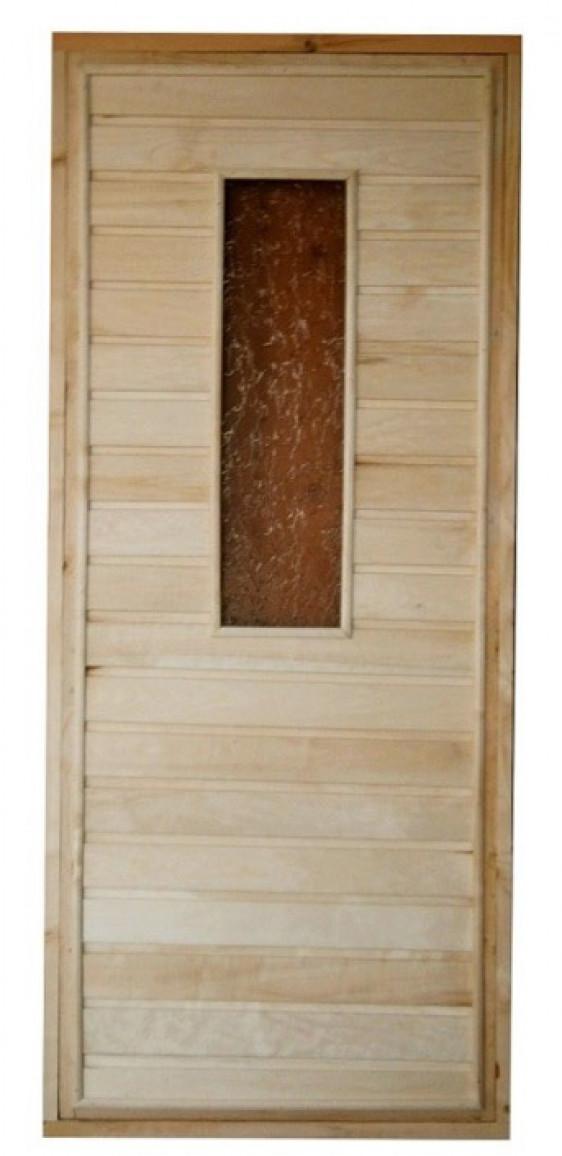 Дверь со стеклом с утеплителем (коробка хвоя) 176х72