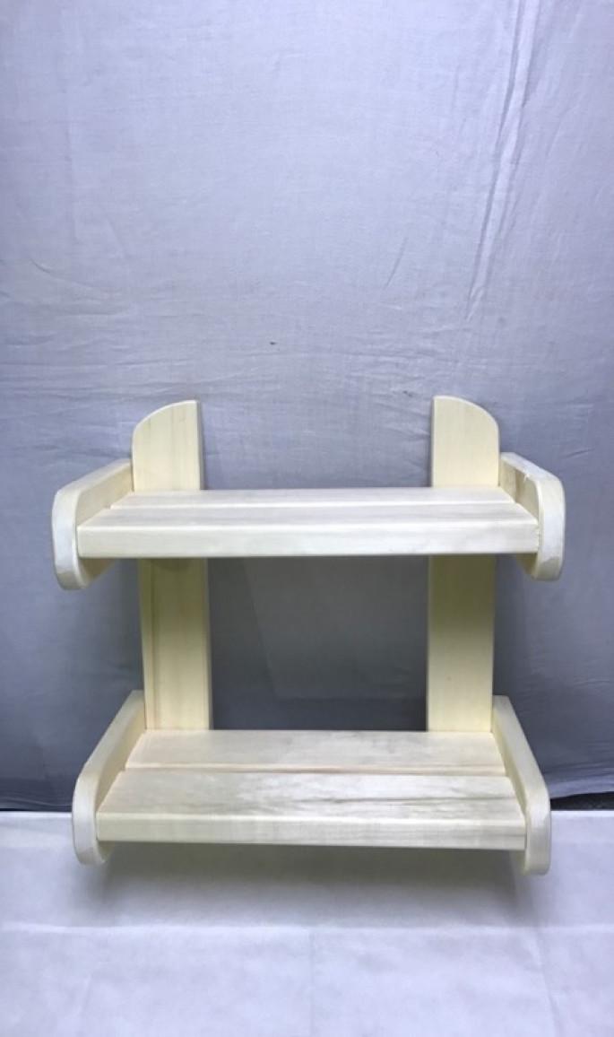 Полка для бани  осиновая без ограничителя L= 550 мм