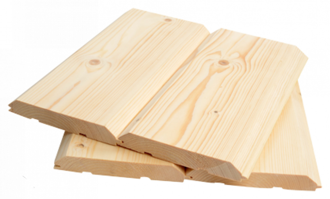 Блок-Хаус (имитация бруса), ХВОЯ 25х175 (155)  кат. АВ длина 6,0м