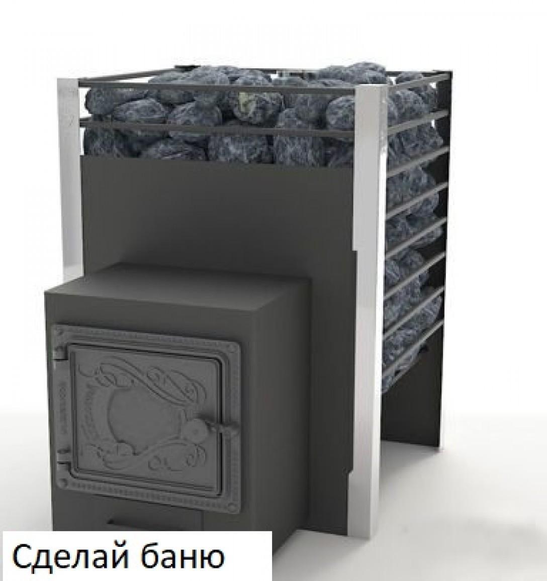 ЖАРА Печь банная ЖАРА-ЛЮКС 10 с закрытой каменкой и воронкой