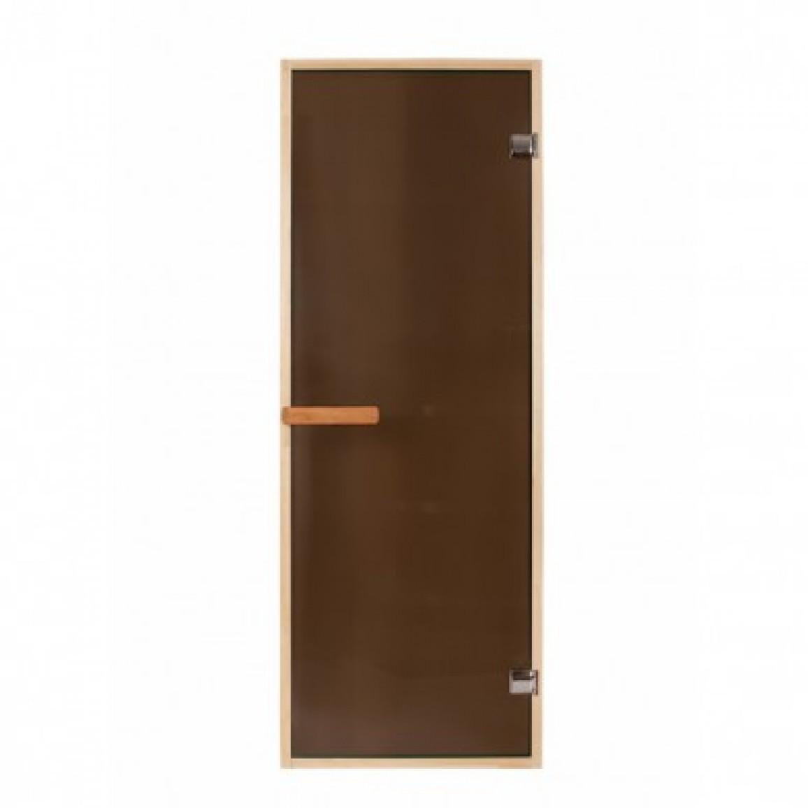 Дверь PREMIO 700х1870, стекло бронза, коробка ЛИПА